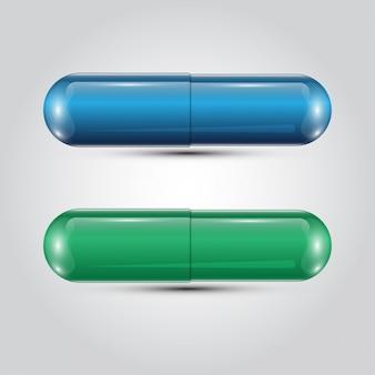 現実的なカプセル錠剤