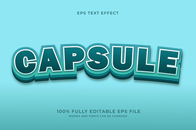 Capsule text effect