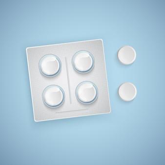 Капсулы и таблетки в новой блистерной упаковке, медицинские товары