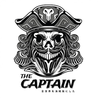 The captain black n white