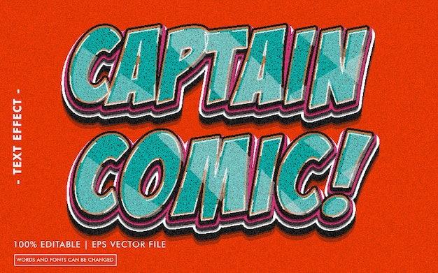 Captain comic! text effect style