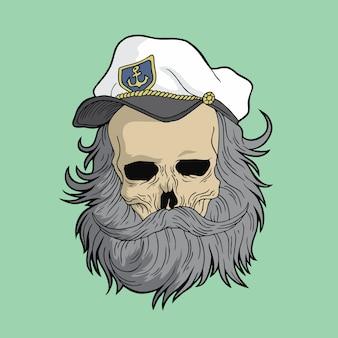 船長の頭蓋骨
