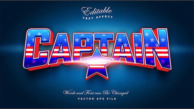 Текстовый эффект капитана