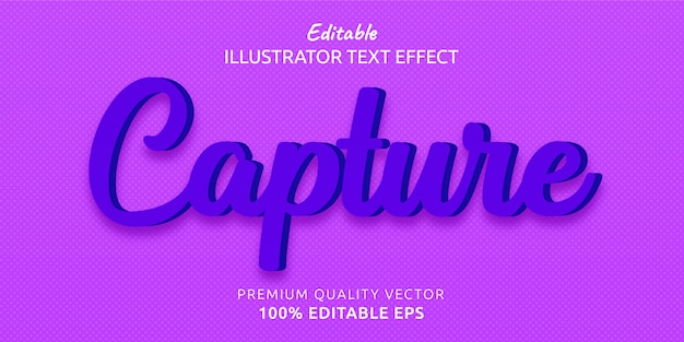 Capture editable text style effect