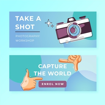 Capture the moment banners template