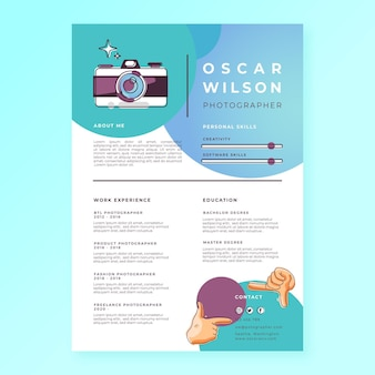 Capture the moment cv template
