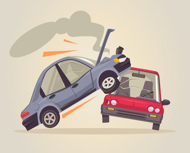 Иллюстрация автомобильной аварии