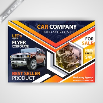 Car advertising flyer