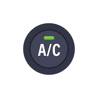 Car air condition button on white background. vector stock illustration