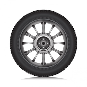 Car alloy wheel with tire