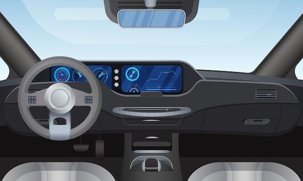 Car auto salon interior