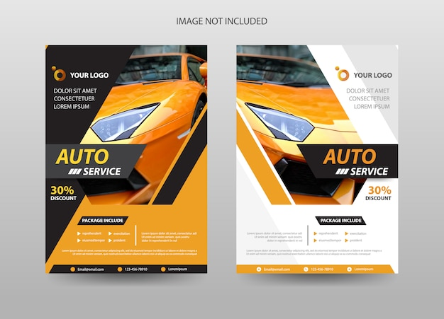 Car automobile flyer template