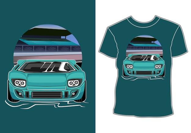 Car automotive industry t-shirt design