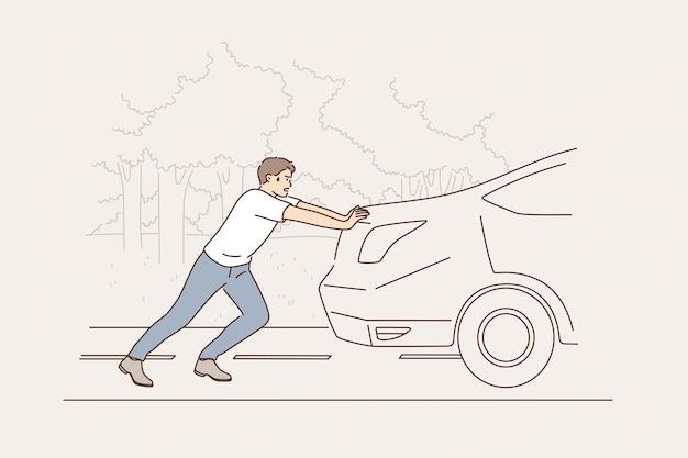 Концепция поломки и обслуживания автомобиля