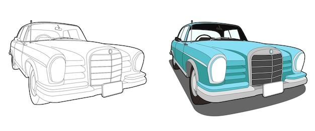 Раскраска мультфильм автомобиль для детей