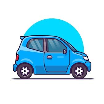자동차 만화. 고립 된 차량 운송