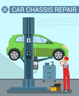 Car chassis rapair. car service equipment.