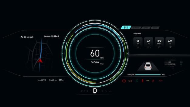 Car dashboard electric vehicle speedometer