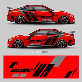 Car decal. abstract lines with gray background design for vehicle vinyl wrap_20200317