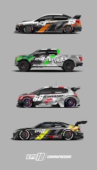 Car decal designs set