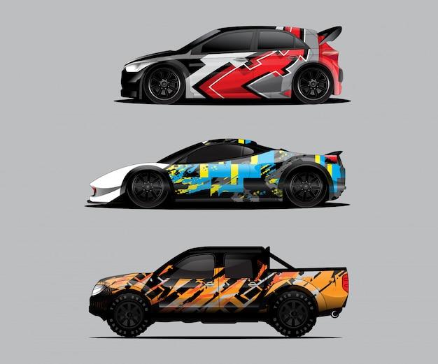 車デカールグラフィックラップパック