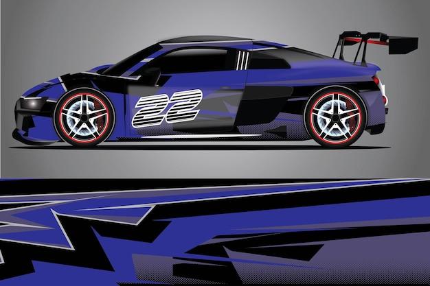 Автомобильная наклейка вектор обернуть иллюстрацию