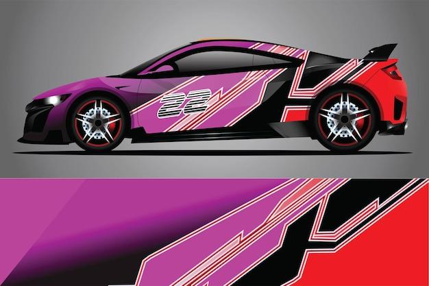 車のデカールラップデザインベクトル