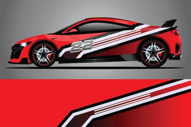 Автомобиль наклейка обернуть дизайн вектор