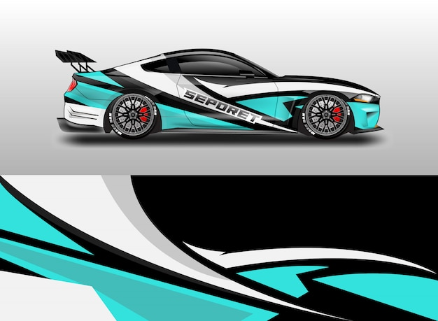 Car decal wrap design for vehicle