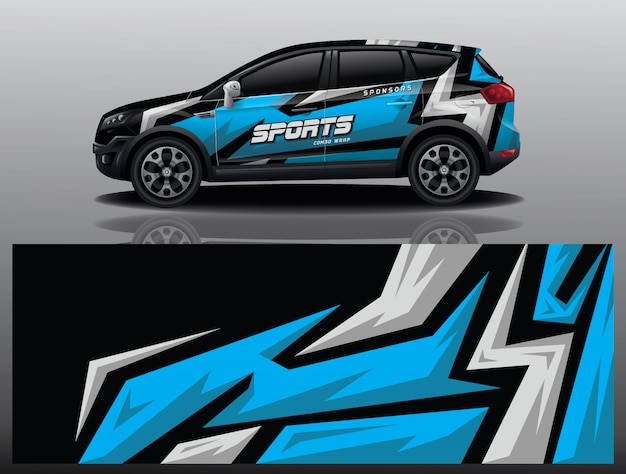 Car decal wrap design