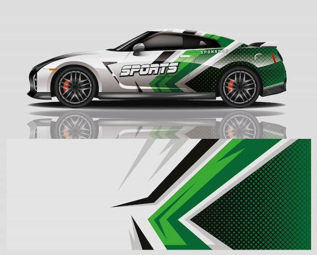 Car decal wrap design