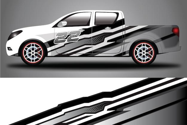 자동차 데칼 랩 디자인