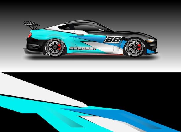 Car decal wrap vector designs