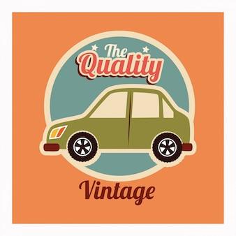 Car design over orange vector illustration