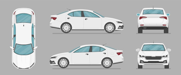 Car in different view