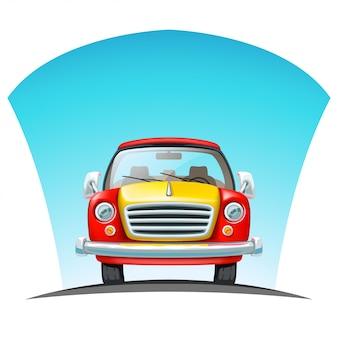 道路上の車の正面図
