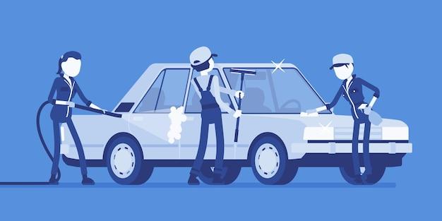 Полнофункциональная автомойка и молодые сотрудники