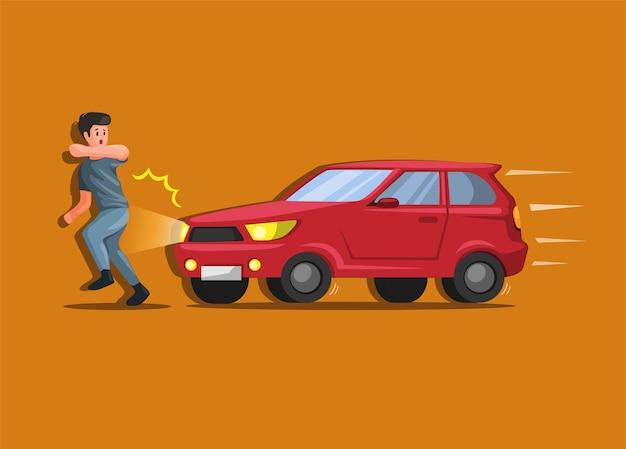 ひき逃げの人が交通事故や事故に見舞われ