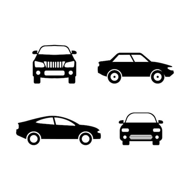 車のアイコンデザインセットバンドルテンプレート分離