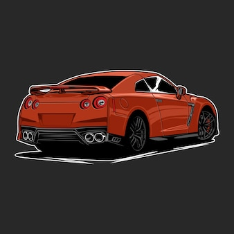 概念設計のための車のイラスト