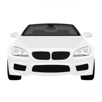 Car illustration isolated on white background full editable format