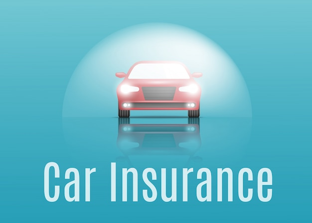 Car insurance concept. banner with text