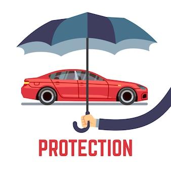 Car insurance vector concept