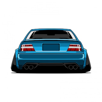 Car jdm  back view