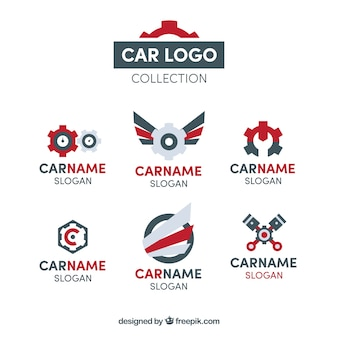 Car logo collection of six