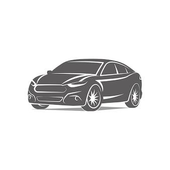 Автомобиль логотип значок эмблема шаблон дизайна векторные иллюстрации