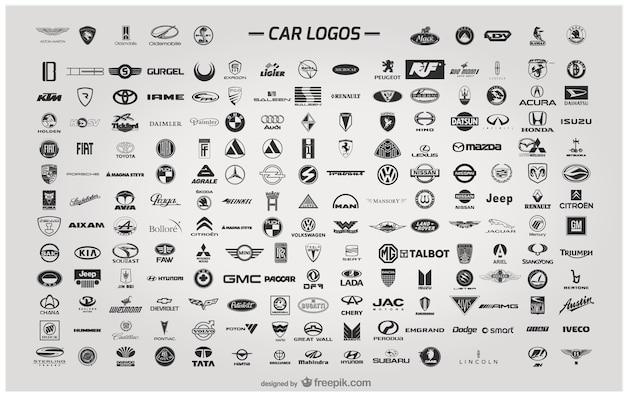 Car logos Premium Vector