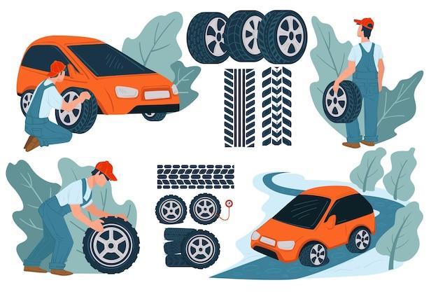 整備士のガレージでの車のメンテナンスと修理サービス