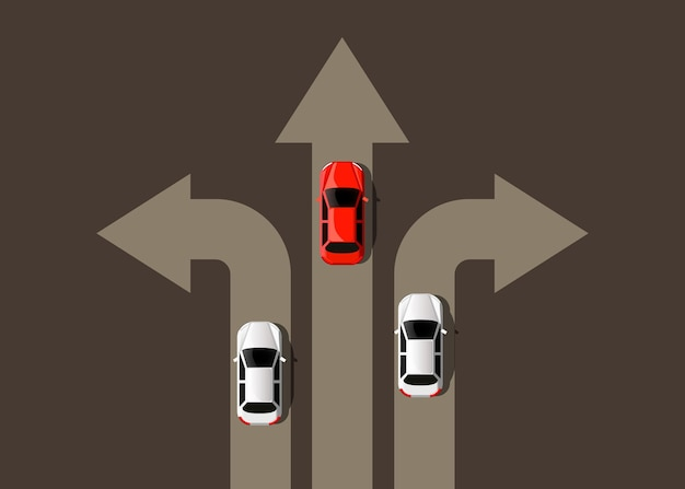 Автомобиль движется в разные стороны