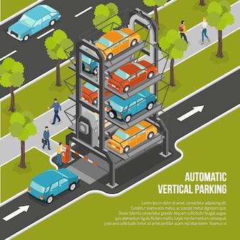 Poster di parcheggio auto Vettore gratuito